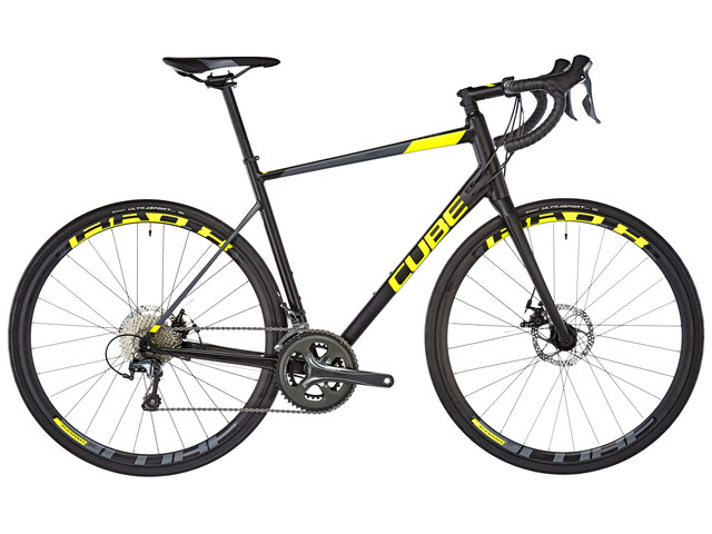 Cube Attain Race Disc - Vélo de route - jaune/noir
